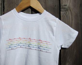Pride Love is Love Kids shirt