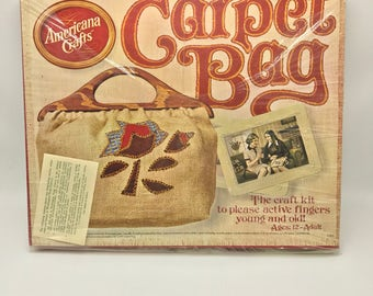Vintage Hasbro Carpet Bag Craft Kit Purse New in Box