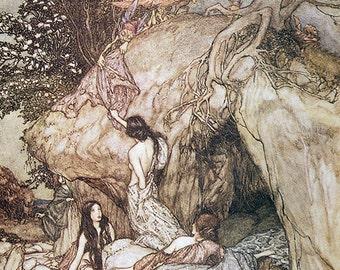 Goblin Thieves, Arthur Rackham, Vinatge Art Print