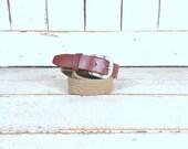 Vintage Nautica tan/light brown stretch canvas leather belt/cinch elastic belt/36