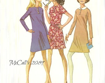 Dress Pattern in 3 Versions Bust 38 Unused McCall's 2089 Size 16 FF