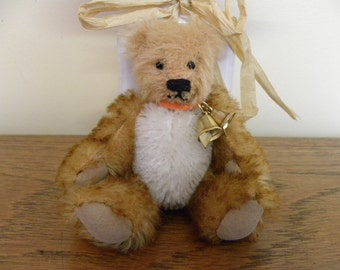 Artist Mohair Bear - 4.5 inch Miniature Bear - Collectors Bear - Made for Pud Bears