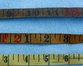 Cloth Tape Measurer 1 yard in Yellow Cloth Fabric Woven ready to add to your collage