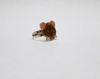 Fancy Rat Brown Rat Ring Pet Rat Jewellery