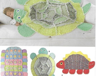 Simplicity 2493 Child Rag Quilt for Dinosaur Turtle and Caterpillar