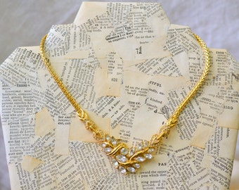 1980s Trifari Rhinestone Necklace
