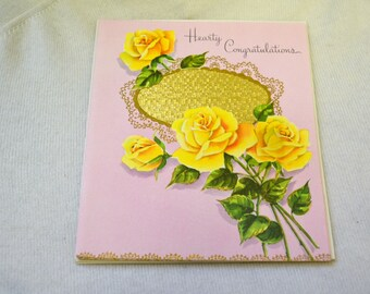 1950s NOS Congratulations Card with Envelope