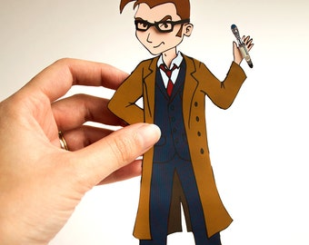 Time Lord Paper Doll Digital Download - PDF File - US and UK/international sizes