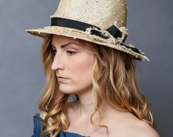 Knotted Sisal Straw Hat