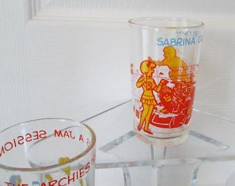 Vintage Sabrina Glass - Archie Comic Books 1973 - Sabrina Calls the Play - Two Available - Riverdale High Football Game Sabrina Cheerleader