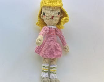 Eleven, Stranger Things, Crochet Pattern/Amigurumi