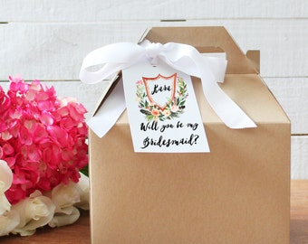 Will You Be My Bridesmaid Gift Box | Will you be my Maid of Honor Gift | Thank you for being my Bridesmaid Gift | Thank you Maid of Honor