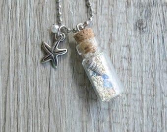 MOANA Inspired Vial Necklace 22x11mm Cork Glass Bottle Glitter Disney
