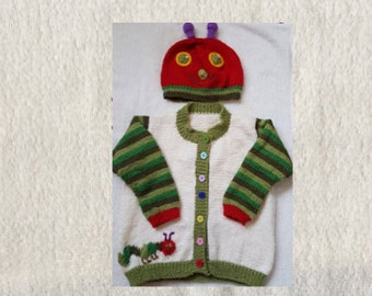 Hungry Caterpillar and Hat Set. Immediate Shipping