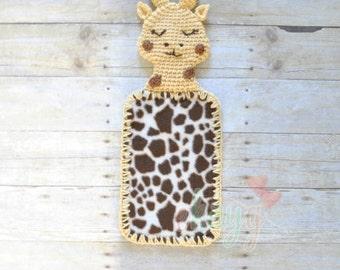 Giraffe Fleece Lovey