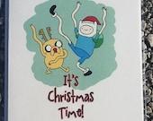 Adventure Time Christmas Card