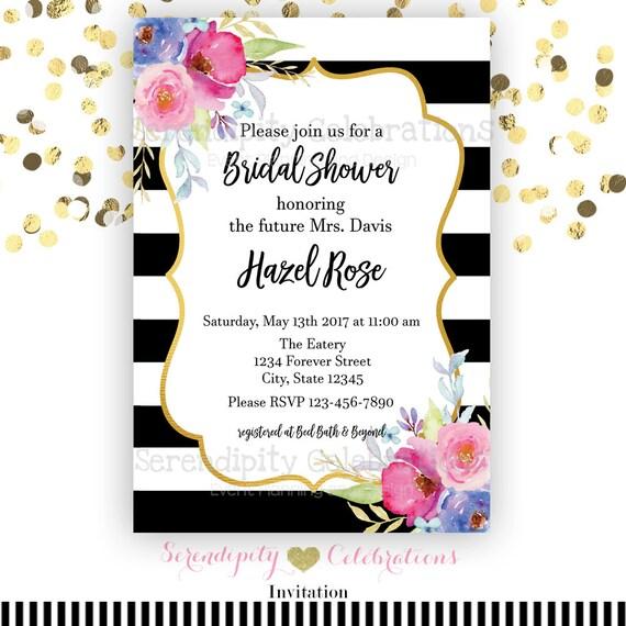 bridal shower invitation baby shower invitation graduation