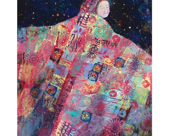 quilt art print - Night Dance