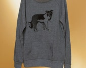 SALE Border Collie Sweatshirt, Size M