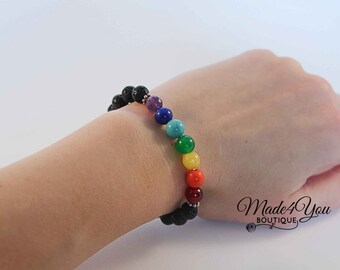 Chakra Bracelet - Stone Chakra Healing Bracelet - Rainbow Bracelet