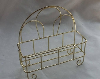 Small Wire Container Holder Footed Wire Basket