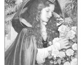 Beautiful Princesses--Set of Four Grayscale Coloring PDF