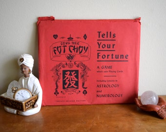 Vintage 1938 Fortune Telling Game - Gong Hee Fot Choy - Astrology, Numerology, Psychic Reading, Divination, Spirit, Chinese, Curious Good