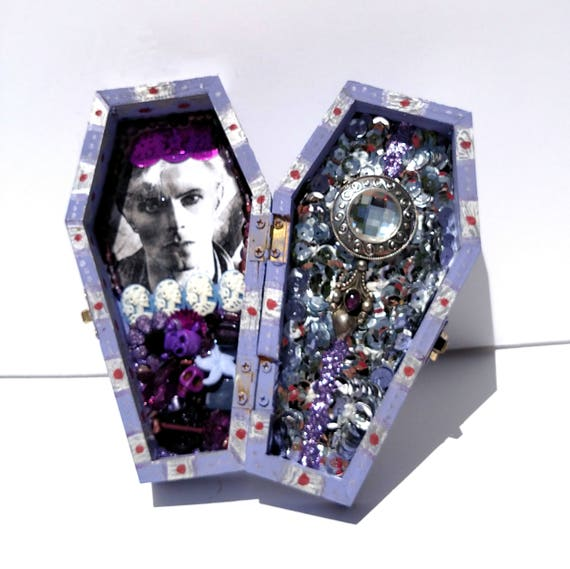 David Bowie Coffin Shrine Altar Box - One of a Kind Mixed Media Art