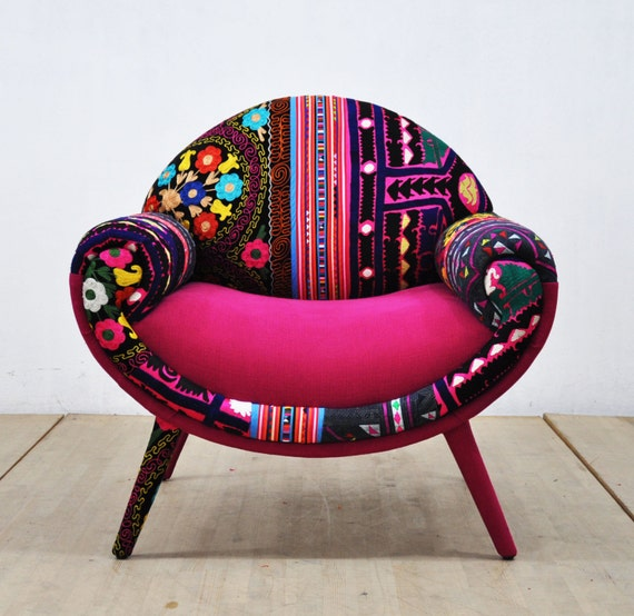 Smiley Patchwork Armchair Pink Love By Namedesignstudio On