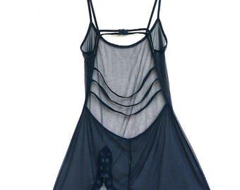 vintage 90's strappy net slip