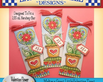 Valentine Candy Bar Wrapper, Laurie Furnell, Heart Candy Bar wrapper, 3D Candy Bar Wrapper, Hershey Candy Bar Wrapper, Valentines Printables