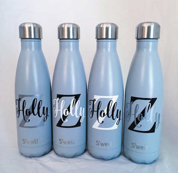 Personalized S'well Bottle - Big Initial and Name, S'well Bottle, Swell Bottle, Monogram S'well Bottle