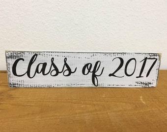 Class of 2017 sign - photo prop sign - senior photos prop - gift for senior - graduation gift  LR-108