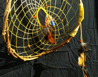 Dream Catcher for Emotional Healing and affection - Goldstone and Lapis lazuli