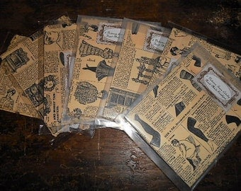 5 Hand Made Upcycled Victorian Catalog Envelopes Sears