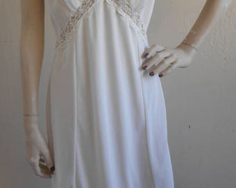 Vintage Slip Full Pleated by Movie Star White Size 36 Tall Wedding Bridal
