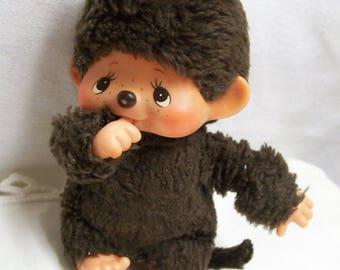 "Mattel Monchhichi Monkey Doll 1974 Vintage All Original Plush 5"" Thumb Sucker"