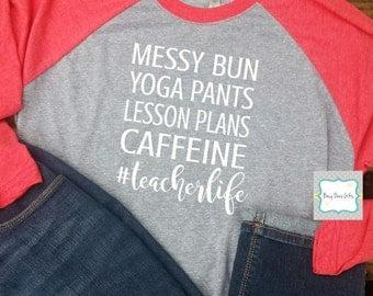 Teacher Raglan Shirt * Teacher Life Shirt * Teacher Life Raglan * #teacherlife * Teacher Gift * Teacher Appreciation * Raglan Shirt