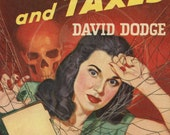 Death and Taxes - 10x15 Giclée Canvas Print of a Vintage Pulp Paperback Cover