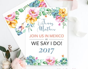 Wedding Invitations, Wedding Suites, Save the Date, Bridal Shower - Destination Wedding/Garden/Tropical/Hummingbird (Style 13661)