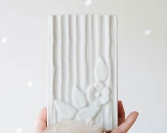 Mid Century Botanical Glazed White Porcelain Vase // Vohenstrauss Bavaria // Modern Home Decor