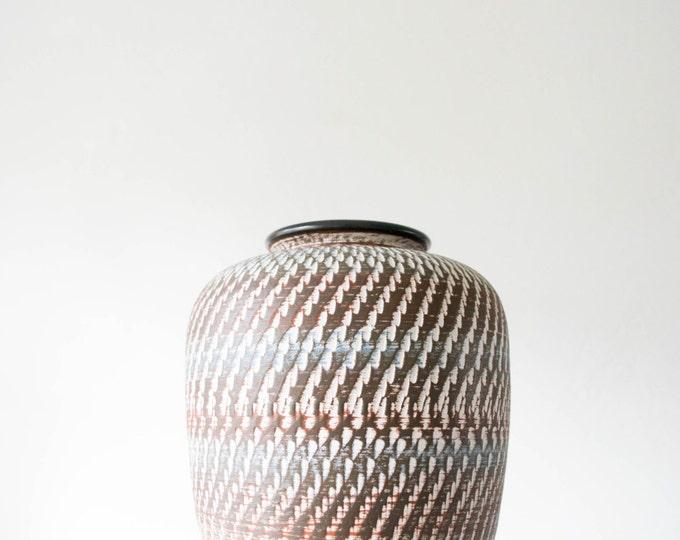 Mid Century Handmade Pottery Vase // Dumler & Breiden West Germany // Tribal Home Decor