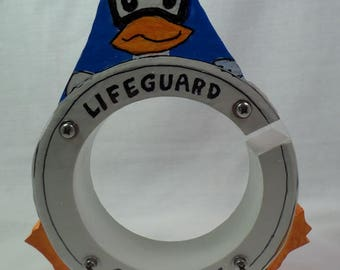 Moving Sale - Lifeguard Duck Wooden Bank