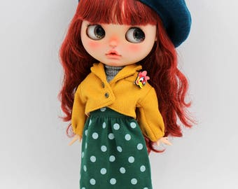Girlish - Yellow Jacket Set for Blythe doll - dress / outfit
