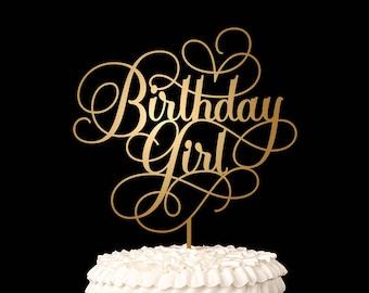 Birthday Cake Topper - Birthday Girl - Happy Birthday