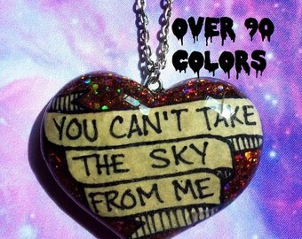 You Can't Take The Sky From Me Resin Necklace, Firefly, Serenity