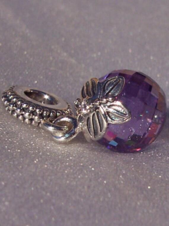 Morning Butterfly Purple Clear Cz Pandora Charm