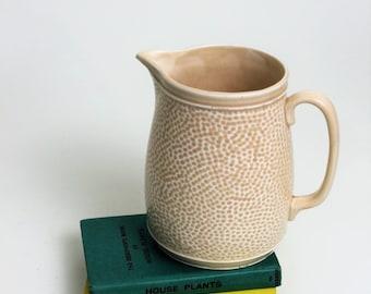 Cream Mottled Design Jug/Vase