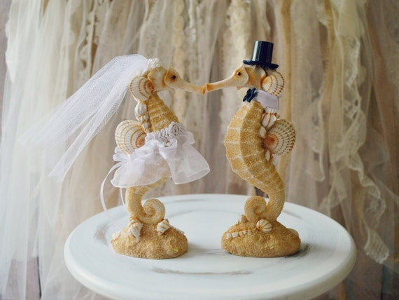 destination wedding cake toppers beach theme seahorse wedding cake topper wedding seahorse 13502