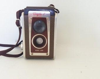Vintage Kodak Duaflex IV Camera 1950 Kodak Duaflex Midcentury Camera Adjustable Shutter Speed 1950 Kodak Takes 620 Film Original Neck Strap